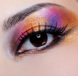 bright multicoloured make-up