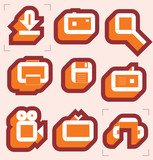 Grid icons for media resources. Vector illustration. poster