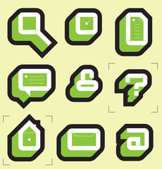 Grid icons for web. Vector illustration.