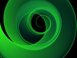Fantastic green abstract background with helix
