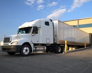 Semi Truck / Tractor Trailer at loading Dock