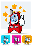 Cellular phone mascot 1 poster