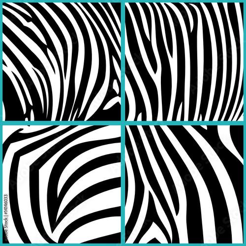D�copatch Papier Zebramuster