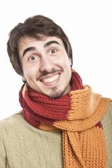 Joyful young man  smiling