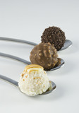 3 truffles on white background II
