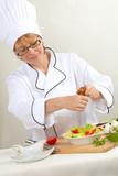 Chef Preparing salad poster