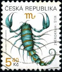 Ceska Republika. Zodiaque. Scorpion. Timbre postal