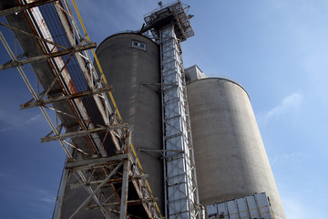 silos at a flour mill