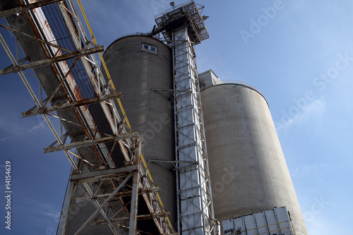 silos at a flour mill