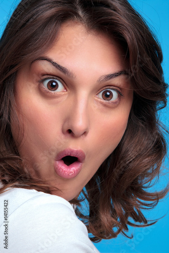Woman with a shocked expression