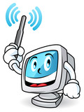 Computer mascot 1 poster