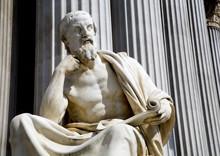 "Постер, картина, фотообои ""Vienna - philosopher statue for the Parliament - Herodotus"""