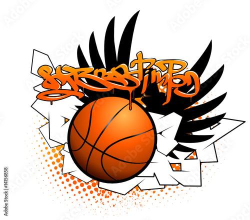 Basketball graffiti image