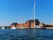 Docked yachts in Copenhagen, Denmark