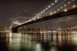 Brooklyn Bridge at night in HDR