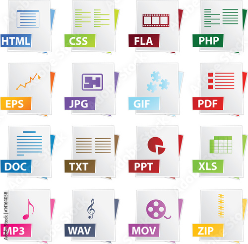 Document icon in different colors