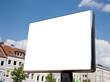 Leinwanddruck Bild - leere Plakatfläche in der Fußgängerzone