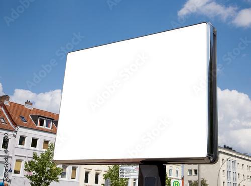 Leinwanddruck Bild leere Plakatfläche in der Fußgängerzone