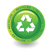 Vector Green Recycle Label