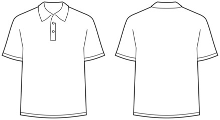 Polo shirt – front and back view