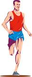 Marathon runner poster