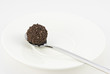 Chocolate truffle on a silver spoon II