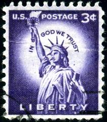 US Postage. Liberty. Timbre Postal oblitéré.