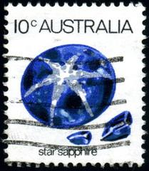 Australia. Star Sapphire. Timbre postal oblitéré.