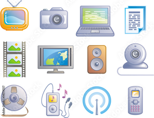 poster of Media - Vector Icon Set
