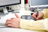 Graphic designer hands poster
