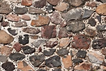 Stone wall of Mayan ruins