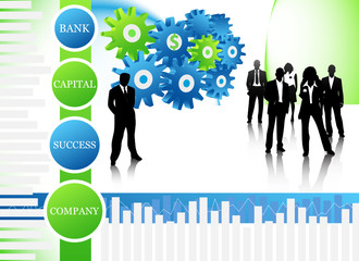 Concept of business people
