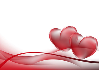 abstract background red curves. Wedding card