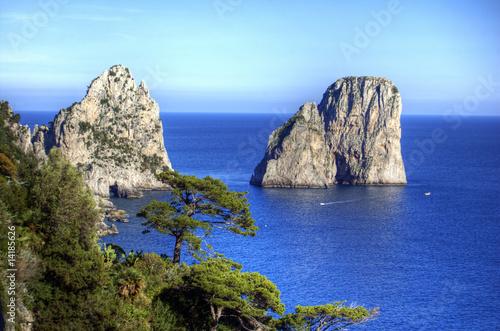 Leinwanddruck Bild Capri, i Faraglioni