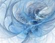 Blue fractal tunnel