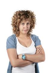 mujer enfadada o triste