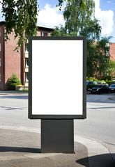 Plakatfläche am Straßenrand