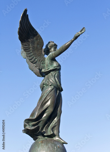 Statue of victory at Rhodes island, in Greece