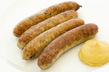 Bratwurst mit Senf