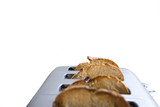 Bread in toaster, cut out