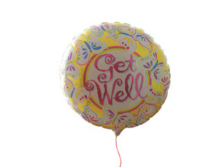 Get Well' balloon, cut out