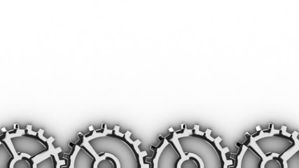 Rotating gearwheels at the bottom of the screen - seamless loop