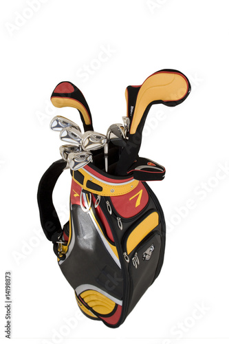 Golf clubs, cut out