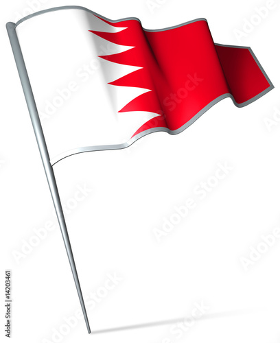 Flag pin - Bahrain