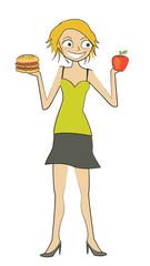 femme pomme burger