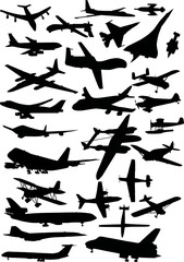 large set of airplanes