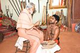 Kalarippayat Master teaching a student a ancient yoga poster