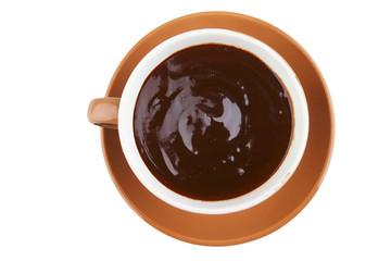 hot chocolate over white