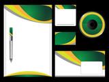 Green Stationery Set poster