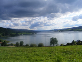the lake in doubs, france